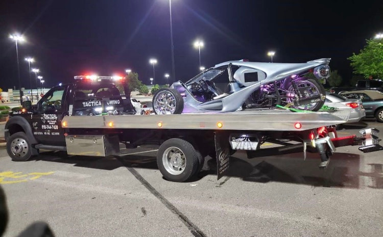 Tactical Towing Flatbed Motorcycle Towing in Belleview Illinois